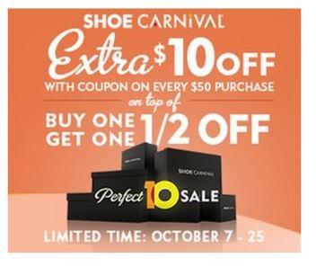 shoe carnival promotion OCTUBRE
