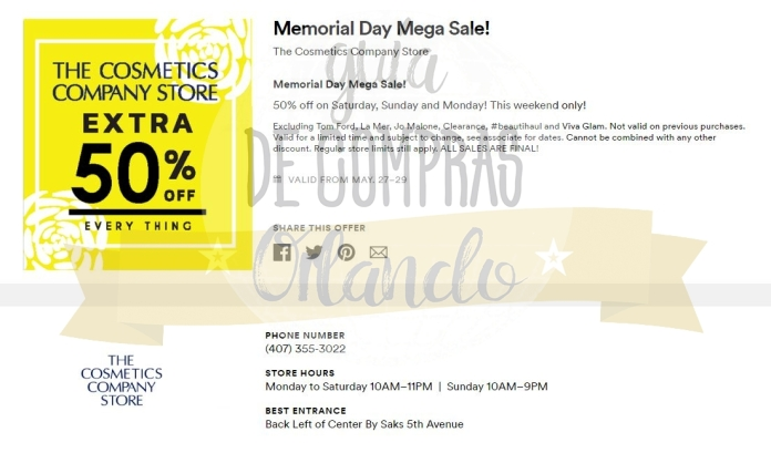 Memorial Day Sales International Premium Outlets 2017_1