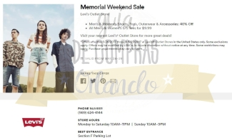 Memorial Day Sales International Premium Outlets 2017_12
