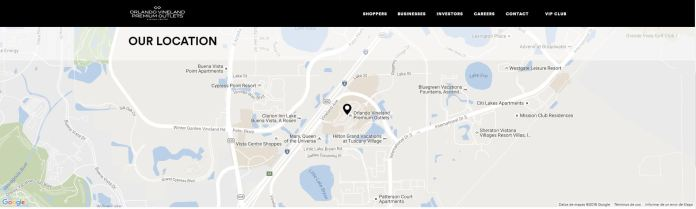 orlando vineland premium outlets mapa