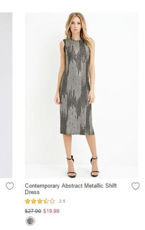 Forevere21 Vestido de fiesta x menos de 20 dólares1