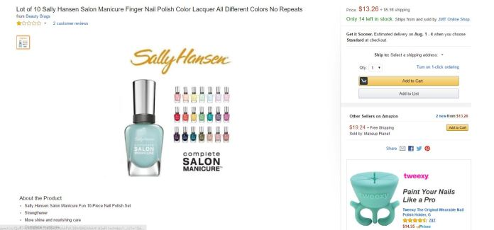 Sally Hansen Amazon 1