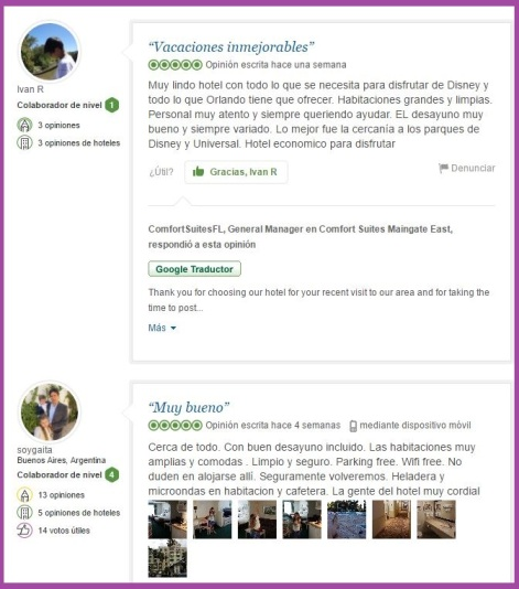 Comfort Suites Maingate East opiniones viajeros