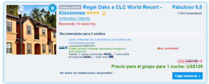 Regal Oaks a CLC World Resort - Kissimmee precio.PNG