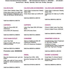 Deals Orlando International Premium Outlet Septiembre 02