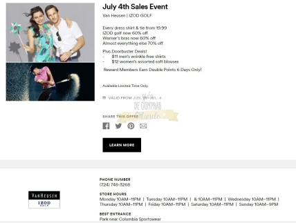 Cupones Premium Outlets 4th of July 1