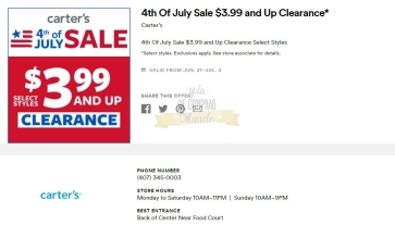 Cupones Premium Outlets 4th of July 31