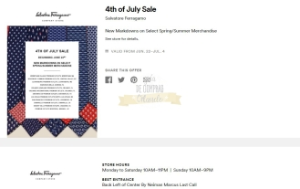Cupones Premium Outlets 4th of July 32