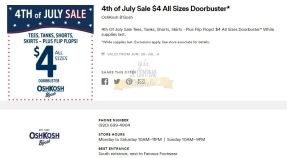 Cupones Premium Outlets 4th of July 33