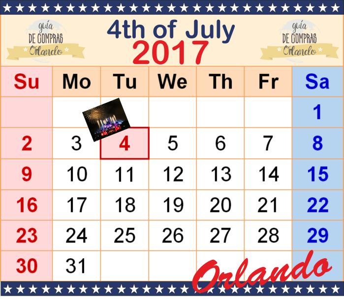 Independence Day Calendar 2017