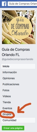 Click en Grupos