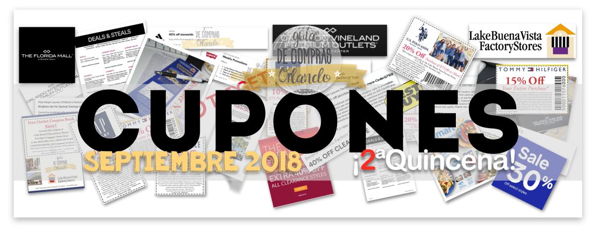 Nuevos Cupones para la 2ª Quincena de Septiembre 2018